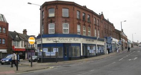 Brick and glass building 'Burton Bolton & Rose' at The Bridge, Wealdstone
